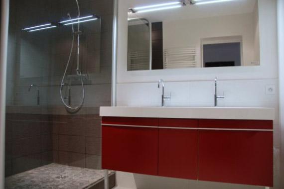 Salle de bains contemporaine - ACS Rolland